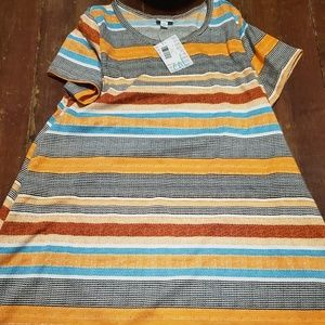 Bnwt lularoe striped autumn Jessie size 2xl